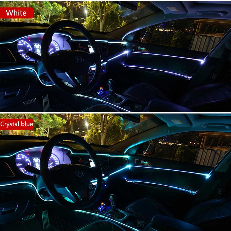 Voiture LED EL fil bandes décoration bande voiture lumières bande pour Lada granta vesta kalina priora niva xray Opel Astra H G J zafira