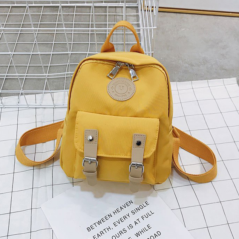 2019 Fashion Women Backpack New High Quality Zipper Female Backpacks Small Teenage School Bag Double Belt Mini Shoulder Bags