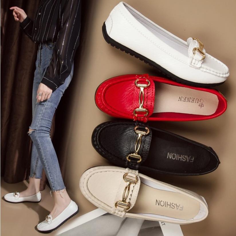 €7.32 50% СКИДКА|Модные женские мокасины на плоской подошве высокого качества; обувь на плоской подошве без застежки; балетки на плоской подошве; удобная женская кожаная обувь|Обувь без каблука| |  - AliExpress