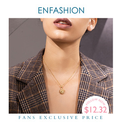 ENFASHION Sun Pendant Necklace Women Gold Color Stainless Steel Cute Choker Necklace Fashion Femme Jewelry Dropshipping P203064
