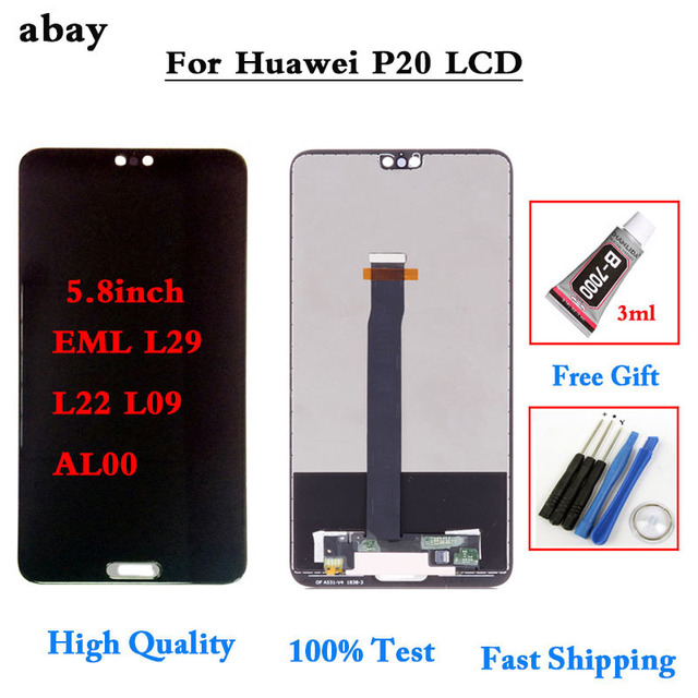 """5.8"""" LCD For HUAWEI P20 Display Touch Screen Digitizer Assembly Replacement Part for HUAWEI P20 LCD Display EML AL00 L22 L09 L29"""