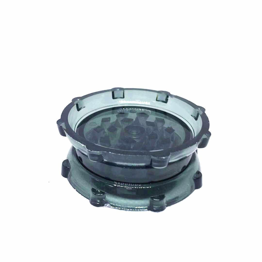 63mm 2 warstwy plastikowe akrylowe młynek do ziół tytoniu dym kruszarki do fajki wodnej fajka wodna rury akcesoria do rur wody