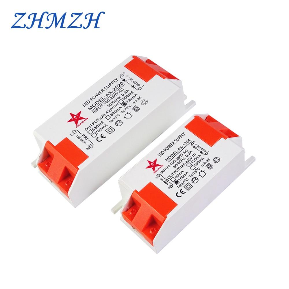 AC100-260V LED Power Supply 250mA 350mA 500mA 720mA 1050mA Constant Current LED Driver With SM Female Socket For CREE COB Chip