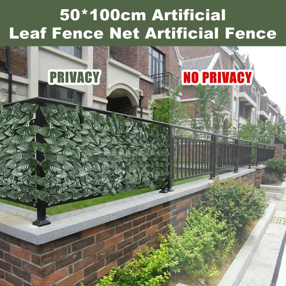 Siepe artificiale Lascia Faux Ivy Foglia Recinzione Privacy Screen Per La Decorazione del Giardino 0.5X1M Cortile Recinto Della Maglia Balcone Recinzione del Giardino