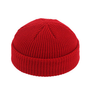 Image 3 - גברים סרוג חסר שולים כובעי היפ הופ כפת כיפת רחוב כובע נשים גברים אקריליק יוניסקס מזדמן מוצק דלעת נייד אבטיח שווי
