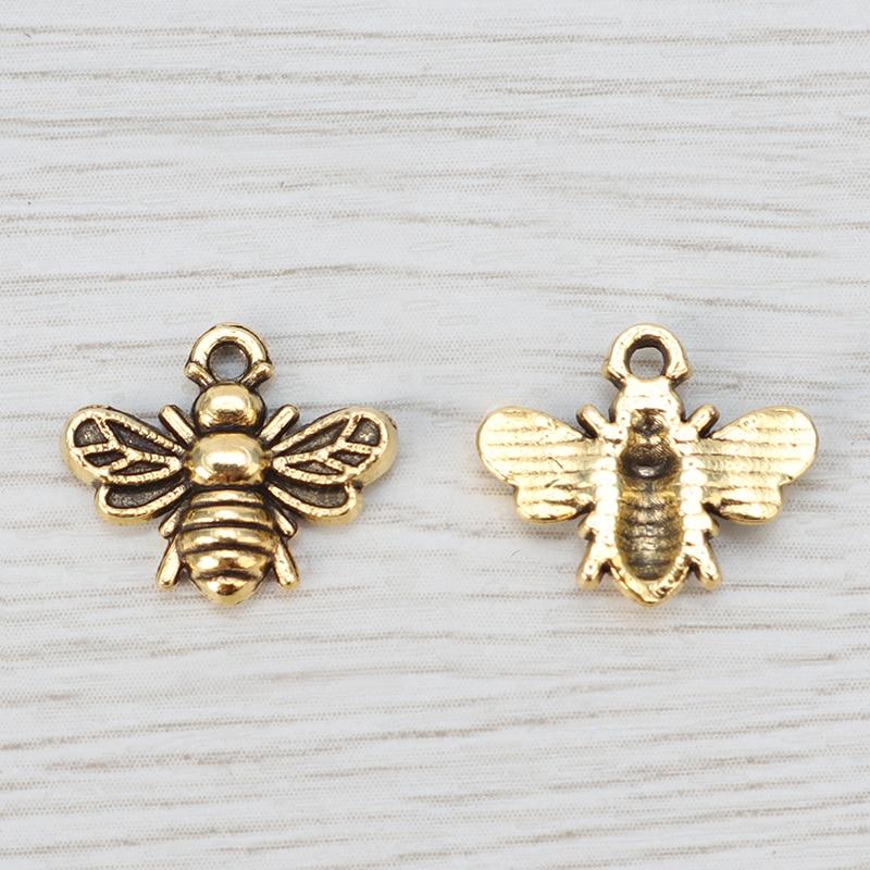 10pcs antique bronze color 29x19mm metal honeybee honey bee hornet insect pendant charm handmade jewelry finding earring necklace drop BM84