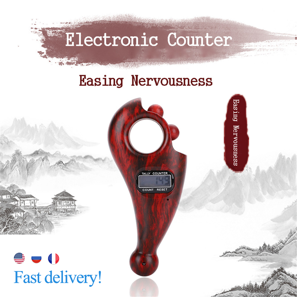 Digital Counter Row Finger Counter LCD Electronic Digital Tally Namo Amituofo Buddha Beads Counter For Buddhist Finger Game