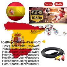 2021 The Most Stable 6 line for Satellite tv Receiver 3/6 Clines WIFI FULL HD DVB-S2 Support Ccams