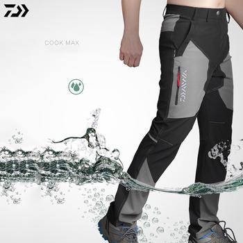 Daiwa patns mężczyźni profesjonalne letnie spodnie outdoorowe spodnie wędkarskie wodoodporne AntiUV szybkie suszenie oddychające ubrania wędkarskie tanie i dobre opinie gamdaiwa Bamboo Fiber Button Fly Broadcloth Anti-Wrinkle Quick Dry Breathable Anti-Pilling POWER DRY Full Length MMBT718
