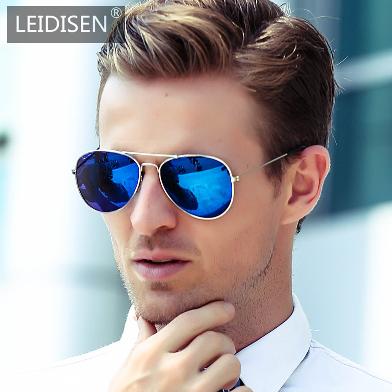 LEIDISEN 2019 Sunglasses Men And Women Metal Driver Classic Dazzle Color Retro Brand Designer Vintage UV400 Sun Glasses 3026