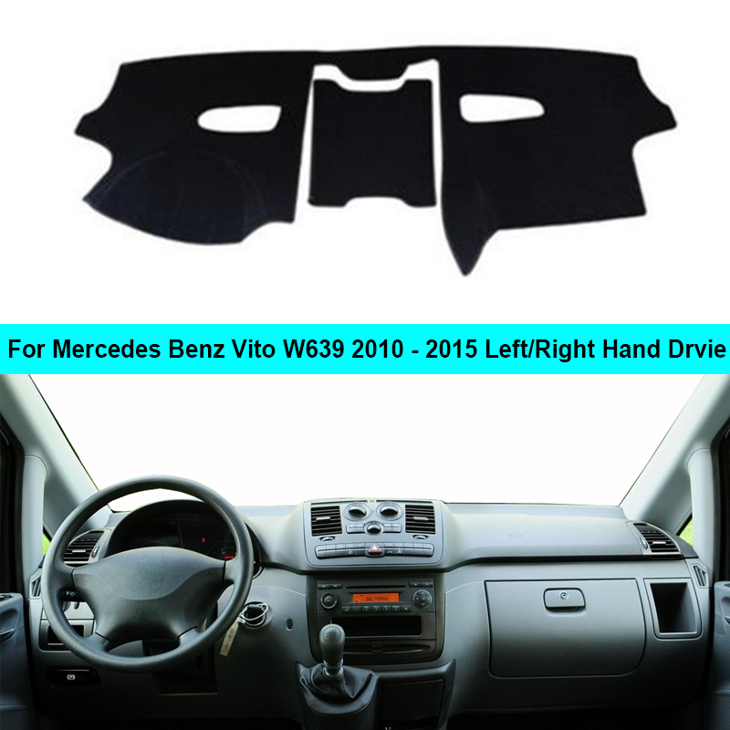 Car Inner Dashboard Cover DashMat Carpet Cushion Sun Shade For Mercedes Benz Vito W639 2010 2011 2012 2013 2014 2015 LHD RHD