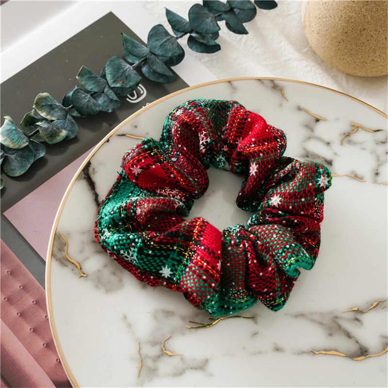 Phong Cách Mới Quà Tặng Giáng Sinh Halloween Nữ Thun Cột Tóc Đuôi Ngựa Giá Đỡ Tóc Scrunchie Bé Gái Nữ Phụ Kiện Tóc