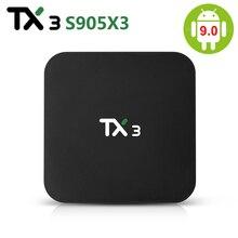 TX3 Amlogic S905X3 TV BOX ، Android 9.0 ، 4GB RAM ، 32GB 64GB ROM ، وحدة فك ترميز ذكية ، wifi ، Bluetooth ، 4K ، 8K ، HD ، مشغل وسائط 2GB ، 16GB