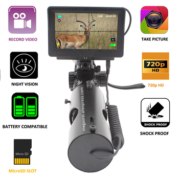 Megaorei2 Night Vision Scope Add on Attachment Monocular Hunting Camera 720p Digital Video Recorder with 850nm IR LASER on scope