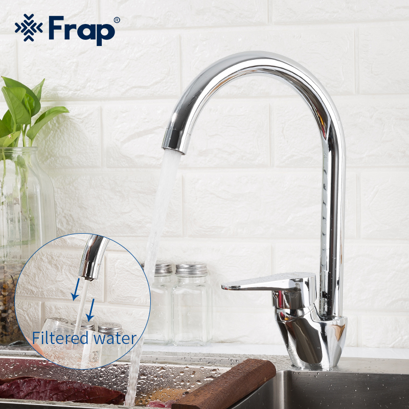 Frap Drinking Water Kitchen Faucets Brass 360 Rotation With Water Purification Features Kitchen Faucet Tap F4352-21