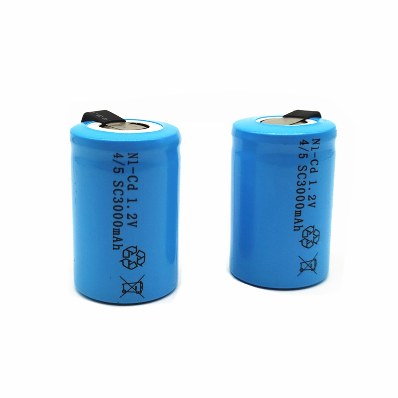 High Quality Battery Rechargeable Battery Sub Battery 4/5 SC Ni-Cd Battery 1.2 V With Tab 3000 MAh For Electric Tool