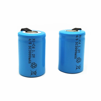 High quality battery rechargeable battery sub battery 4/5 SC Ni-Cd battery 1.2 v with tab 3000 mAh for Electric tool image