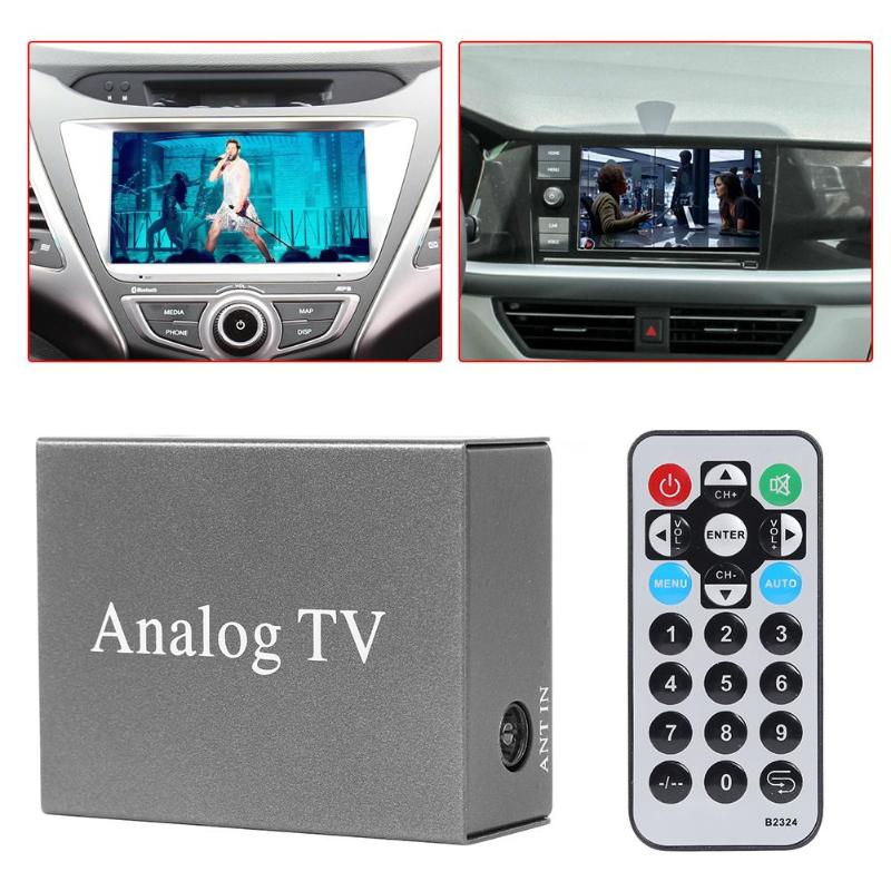 Carplay DVD Mobile Digital <font><b>TV</b></font> Box Mini Fahrzeug Auto Monitor PAL NTSC <font><b>TV</b></font> Analog Receiver Tuner Mit Antenne Fernbedienung kit hot image