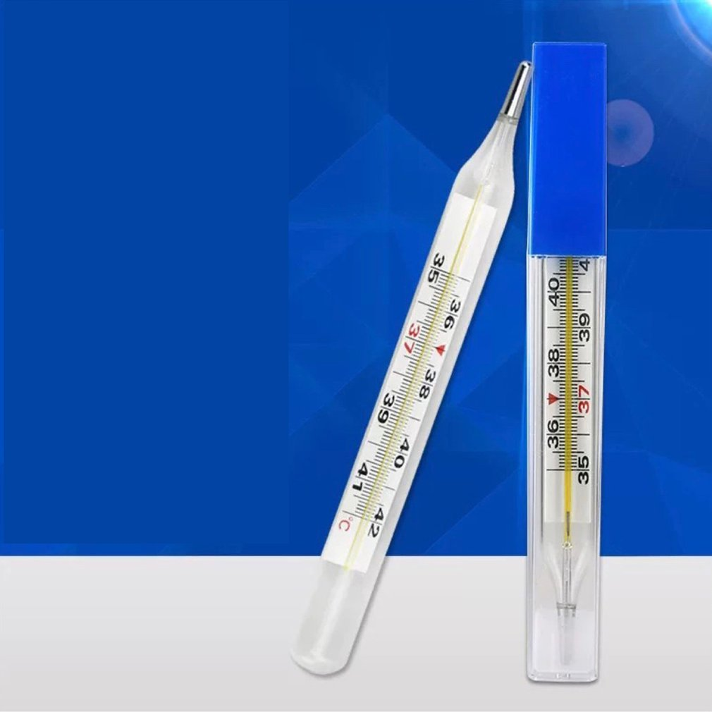 Mercury Glass Thermometer Household Mercury Thermometer Adult Baby Body Temperature Measurement