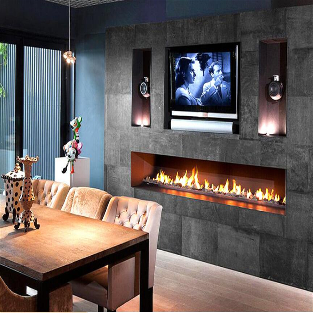 60 Inch Wifi Real Fire Indoor Intelligent Smart Bioethanol Fireplace Insert Burner