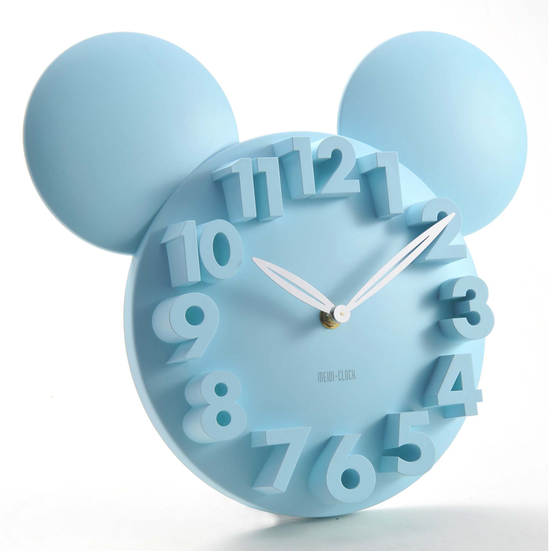 New Cartoon 3D Digital Wall Clock Novel Children's Bedroom Decoration Wall Clock With Red Rose White Children's Wall Clock