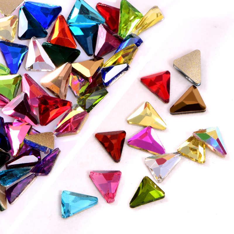 20 個 5*7 ミリメートル三角 K9 非ホットフィックスラインストーンフラットバックラインストーンネイルアートガラスクリスタル爪の装飾のため B1344