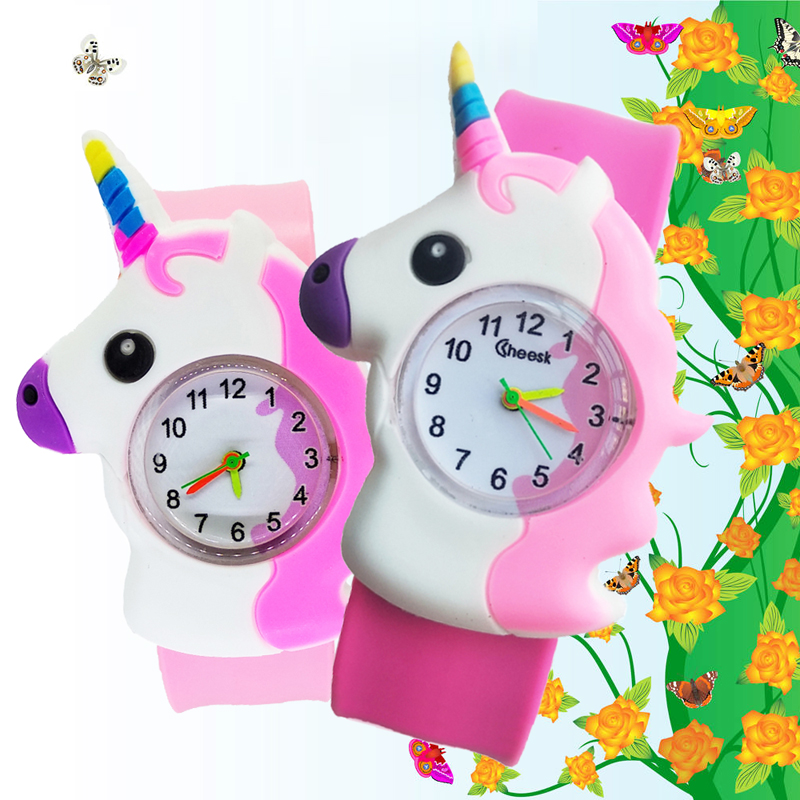 Mother-sends-a-gift-for-the-children-girl-butterfly-watch-children-boy-students-clock-child-watches