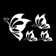 Funny Car Decor Reflective Car Sticker Butterfly Warning Stickers Decal Accessories Waterproof Black/White Auto Styling Tools