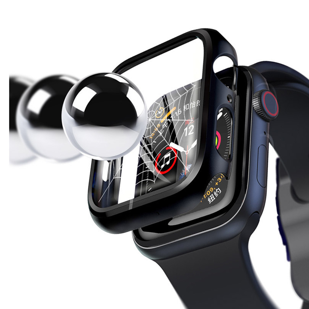 Cover Voor Apple Horloge Case Series 5 4 3 2 1 Cover 44 Mm 40 Mm Armband Gehard Glas Iwatch 42 Mm 38 Mm 42 Horloge Accessoires 44 Mm