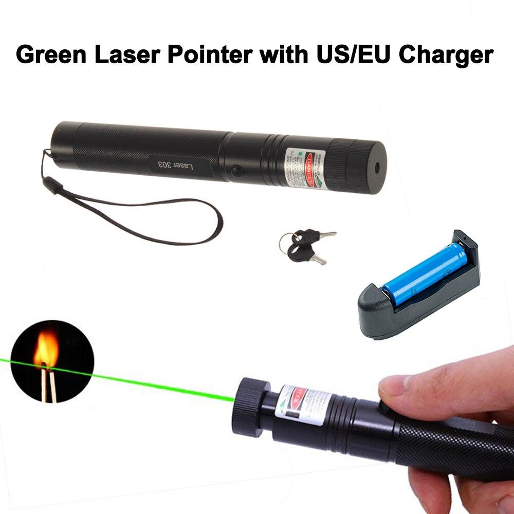 5 мВт 532 нм зеленая лазерная указка, мощная 303 лазерная ручка, ведущий пульт дистанционного управления на открытом воздухе, охотничий лазер