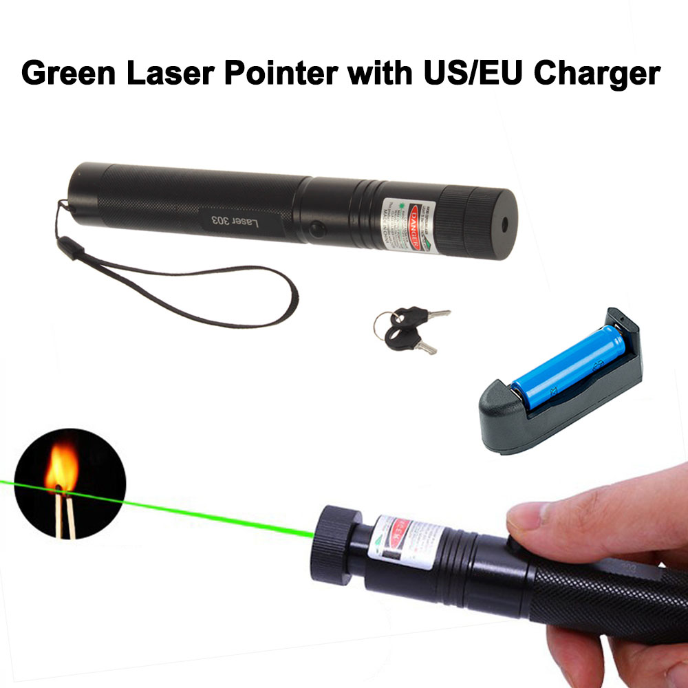 5mW 532nm Green Laser Pointer Powerful 303 Laser Pen Presenter Remote Outdoors Hunting Laser No Battery Green Dot Hunting Tool