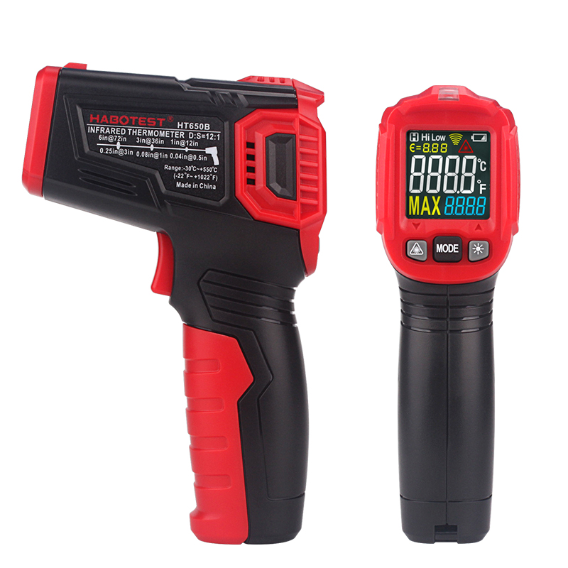 HT650C Digital Handheld Infrared Thermometer Temperature Humidity Tester with LCD