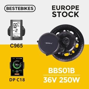 Image 1 - Bafang Motor BBS01B 36V 250W Bafang BBS01 Bafang Elektrische Fiets 8FUN Mid Drive Motor Ebike E Bike elektrische Fiets Conversie Kit