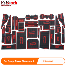 Rubber 29pcs For Range Rover Discovery 5 Car Door Mat Anti-slip Cup Pad