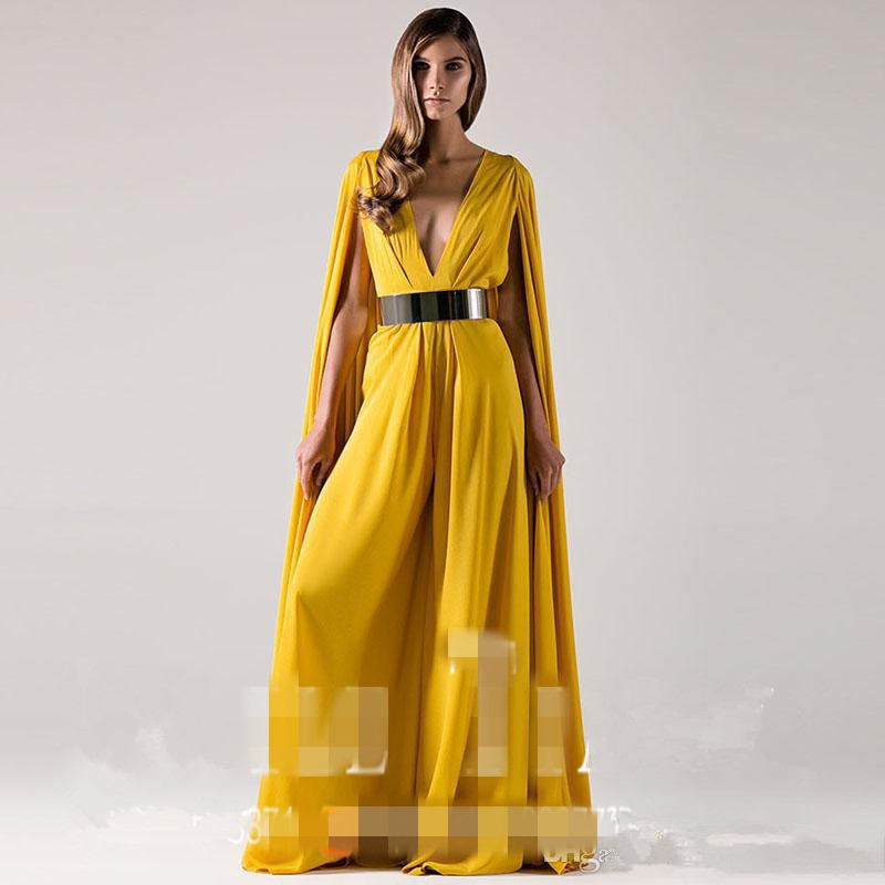 Robe De Soiree Courte New Saree Sexy V-neck Indian Party Gowns Vestidos Formal Shawl Evening Pants Mother Of The Bride Dresses