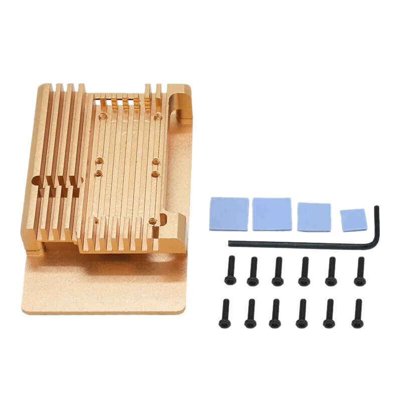 Protective Case Shell Enclosure Heat Sinks Aluminum Alloy For Raspberry Pi4 B