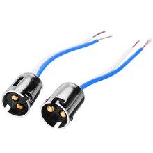 цена 1pcs Bay15d 1157 P21/4 BAY 15D Car Lamp Lights Bulb Socket Adapter Extension Connector Plug Bulb Holder 12cm онлайн в 2017 году