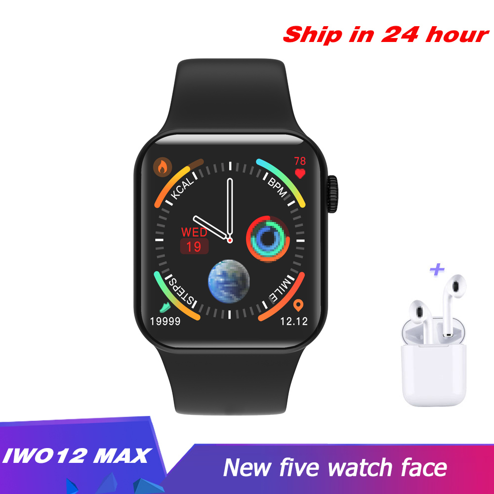 Iwo12 Max Smart Watch Bluetooth Waterproof Heart rate monitor 1.54inch Sport Watch for Android IOS PK <font><b>F10</b></font> IWO8 W34 <font><b>smartwatch</b></font> image