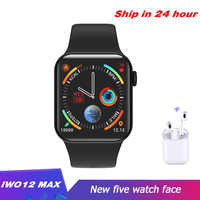 Iwo12 Max Smart Watch Bluetooth Waterproof Heart rate monitor 1.54inch Sport Watch for Android IOS PK F10 IWO8 W34 smartwatch