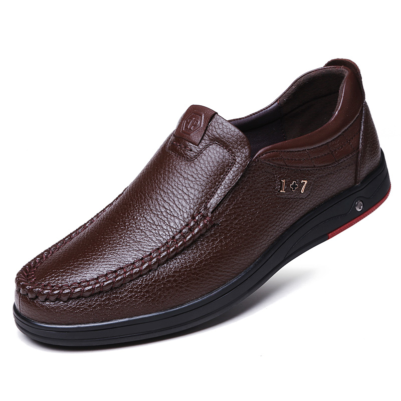 Classic <font><b>Men</b></font> <font><b>Shoes</b></font> Leather Formal Casual Leather <font><b>Shoes</b></font> <font><b>Men</b></font> Wear-resistant Comfortable <font><b>Mens</b></font> <font><b>Shoes</b></font> Casual Work Big Size 38-48 image