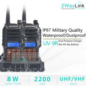 Image 2 - 2 Stuks Baofeng UV 9R Plus Programmering Kabel 8W Power IP67 Waterdichte Walkie Talkie Stofdicht 10Km Lange Afstand Twee talkie Uv9r