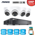 Система видеонаблюдения ANNKE, 4 канала, 5 Мп, 5 в 1, H.265 + DVR