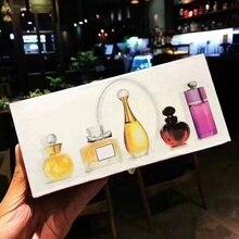 5pcs/set Mini Perfume 3ml/5ml Women Men Perfumes Mujer Originales Fragrances for Deodorant