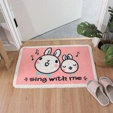 Cartoon Rosa Kaninchen Fußmatte Shaggy Latex Boden Maschine Waschen Badezimmer Küche Teppich Teppich Innen Eingang Boden Matte