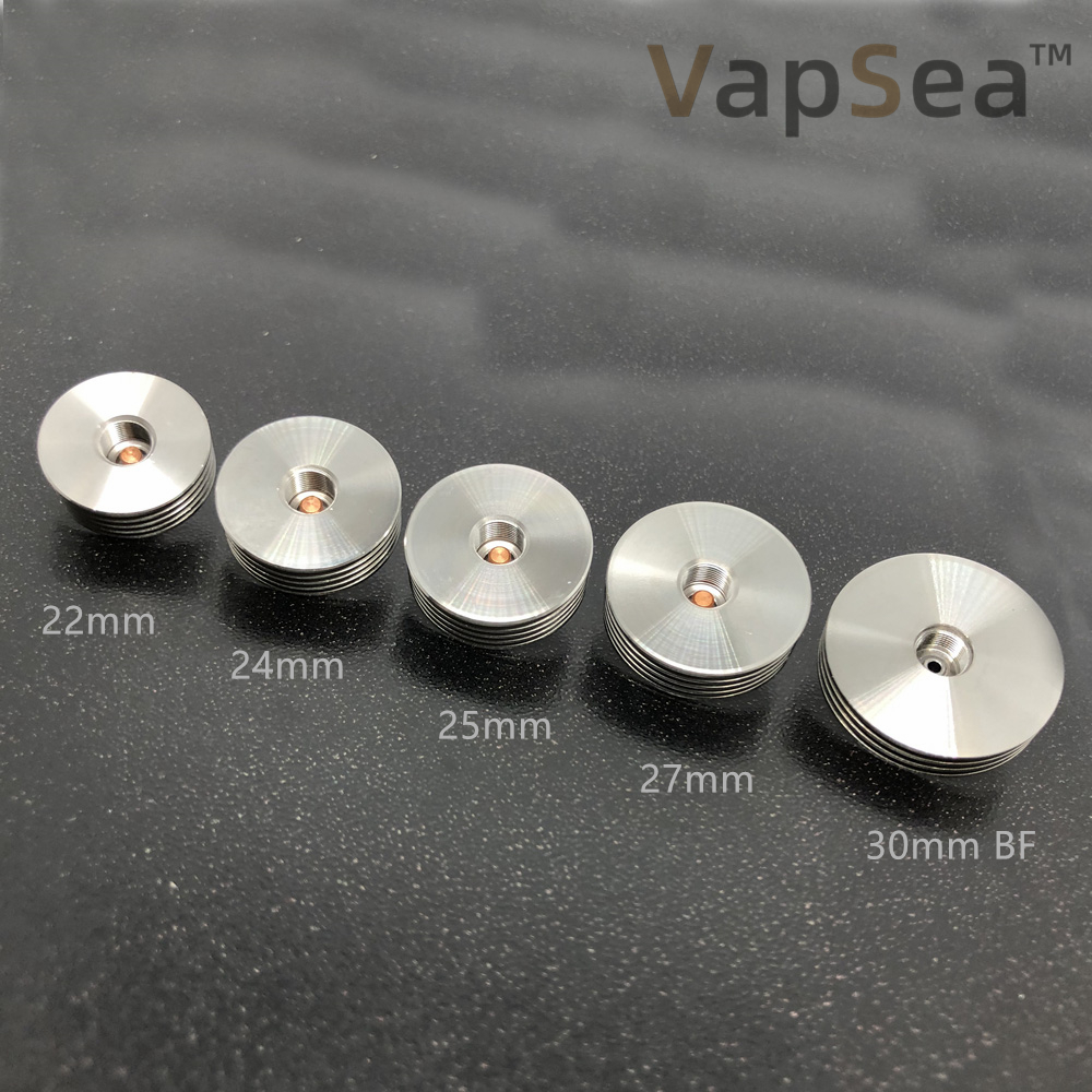 22/24/25/27/30mm Stainless Steel 510 Thead Heat Sink BF Pin Bottom Feeder Adapter For Electronic Cigarette Atomizer