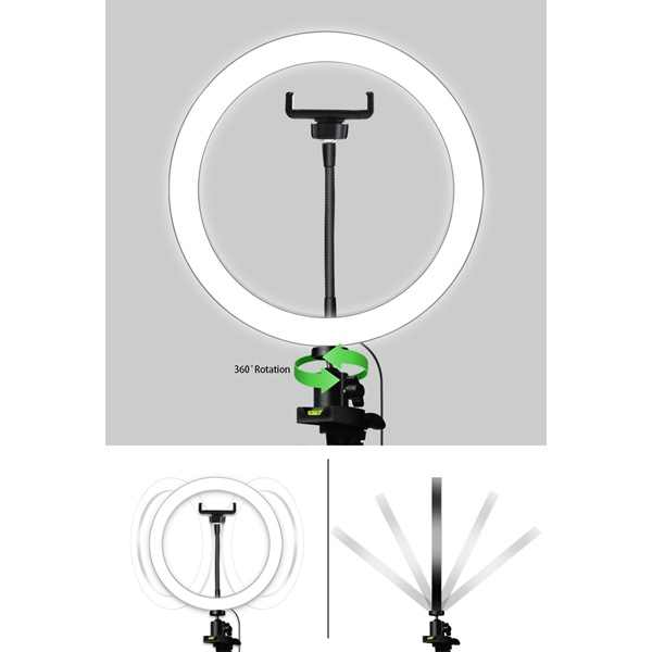 حار حامل هاتف ترايبود كليب Led مصباح مصمم على شكل حلقة كاميرا التصوير الحلقي مصباح استوديو Ringlight للهاتف ماكياج يوتيوب Selfie