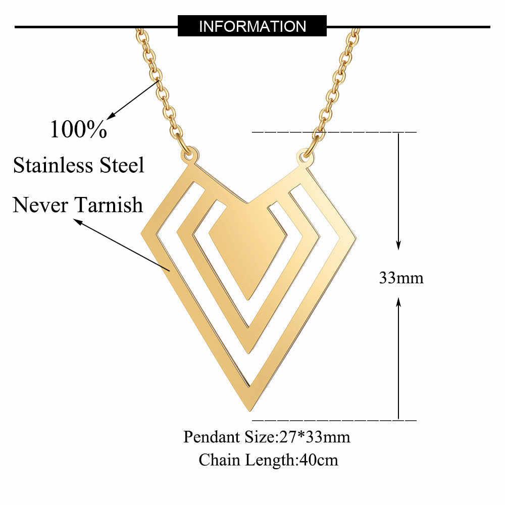 100% จริงสแตนเลส Hollow Dia-Mon สร้อยคอการออกแบบที่น่าตื่นตาตื่นใจของขวัญพิเศษอิตาลีออกแบบบุคลิกภาพเครื่องประดับ