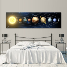 Canvas Paintings HD Print Pictures Starry Sky Posters Earth Sun Universe Galaxy On The Wall Art landscape Living Room Home Decor(China)