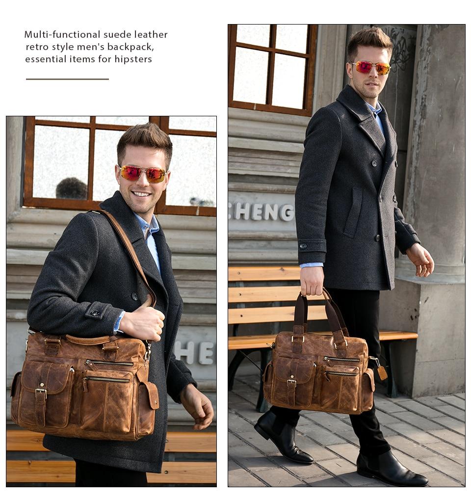 MVA جلد أصلي للرجال حقيبة حقيبة ساعي بريد للرجال جلدية حقيبة لابتوب للرجال حقائب مكتبية للرجال حقيبة حقائب 8537-في حقائب جلدية من حقائب وأمتعة على  مجموعة 2