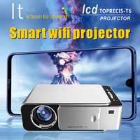 T6 Projektor Android 9.0 WIFI Optional 3500lumen 1080p HD Tragbare LED Projektor HDMI Unterstützung 4K Heimkino Proyector beamer